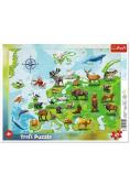 Puzzle ramkowe 25 Mapa Europy ze zwierzętami TREFL