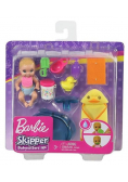 Barbie Lalka dziecko + akcesoria GHV84