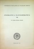 Onomastica slavogermanica VIII