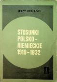 Stosunki polsko niemieckie 1919 1932