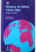 History of IUPAC 1919 1987
