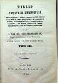 Wykład świętych ewangielij tom III i IV 1854r