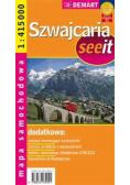 Mapa samochodowa - Szwajcaria  DEMART