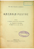 Kazania postne 1924 r.