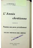 La Journee chretienne 3 tomy 1923 r