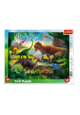 Puzzle ramkowe 25 Dinozaury TREFL