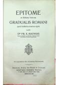 Epitome ex Editione Vaticana Gradualis Romani 1909 r.