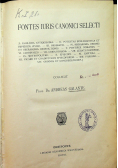 Fontes iuris canonici selecti 1906 r