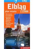 Elbląg +7 - plan miasta 1:15 000