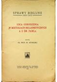 Idea odrodzenia w misterjach hellenistycznych a u Św Pawła 1930 r