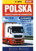 Mapa samochodowa 1:700 000 Polska dla profes.