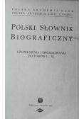 Polski Słownik Biograficzny uzupełnienie i sprostowanie do tomów od I do XL