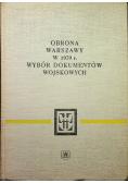 Obrona Warszawy w 1939 r  Wybór dokumentów wojskowych