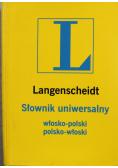 Langenscheidt Słownik włosko polski polsko włoski wersja kieszonkowa
