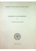 Onomastica slavogermanica IV