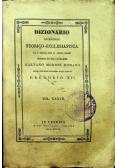 Dizionario di Erudizione Storico Ecclesiastica Vol  XXXVII 1846 r.
