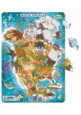 Puzzle ramkowe 53 Ameryka Północna