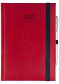 Kalendarz naucz 2021/22 B6D Nebraska z gumką czerwony