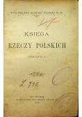 Księga rzeczy polskich 1896 r
