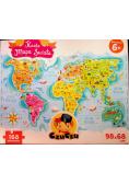 Puzzle Mapa świata 168 elementów