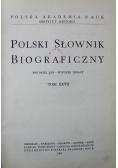 Polski Słownik Biograficzny Tom XXVII