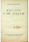 Ballada o Św Jerzym 1928 r