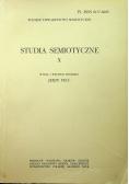 Studia semiotyczne X