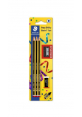 Ołówek Noris 3szt HB + gumka + temperówka
