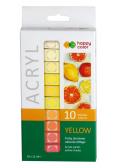 Farby akrylowe 12ml 10 kol żółty HAPPY COLOR