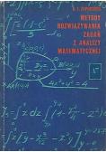 Metody rozwiązywania zadań z analizy matematycznej
