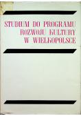 Studium do programu rozwoju kultury w Wielkopolsce