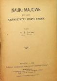 Nauki majowe ku czci Najświętszej Maryi Panny 1908 r.