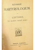 Rzymskie Martyrologium 1910 r
