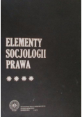 Elementy socjologii prawa Tom IV
