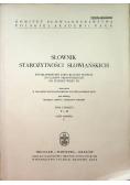 Słownik Starożytności Słowiańskich Tom 4 Cz I