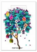 Zeszyt A5/32K kratka PP Fun Birdhouses (4szt)