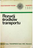 Rocznik transportu 1981 Rozwój środków transportu