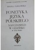 Fonetyka języka polskiego nauczanego w Gdańsku w XVII wieku