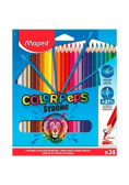 Kredki Colorpeps Strong trójkątne 24 kolory