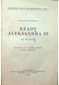 Rządy Aleksandra III 1933 r.