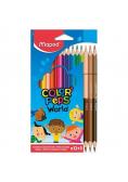 Kredki Colorpeps World trójkątne 12 kolorów