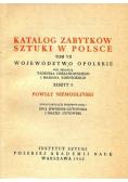 Katalog zabytków sztuki w Polsce tom VII Województwo Opolskie Zeszyt 8 Powiat Niemodliński
