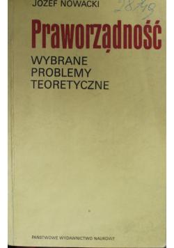 Praworządność wybrane problemy teoretyczne
