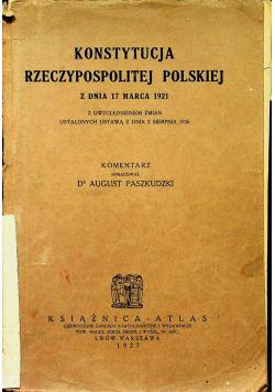 Konstytucja Rzeczypospolitej Polskiej  1927 r.