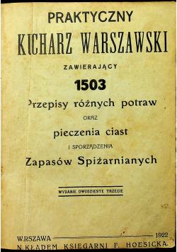 Praktyczny Kucharz Warszawski 1922 r
