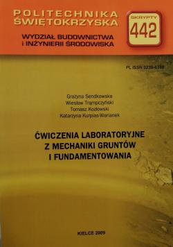 Ćwiczenia laboratoryjne z mechaniki gruntów i fundamentowania