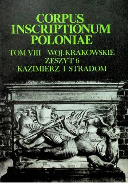 Corpus insriptionum poloniae tom VIII