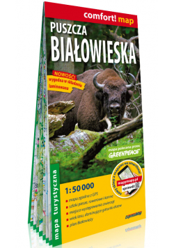 Puszcza Białowieska laminowana mapa turystyczna 1:50 000