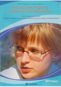 Indywidualne Programy Edukacyjno Terapeutyczne gimnazjum
