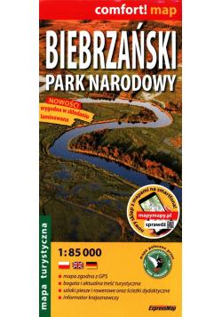 Biebrzański Park Narodowy Mapa turystyczna 1:85 000